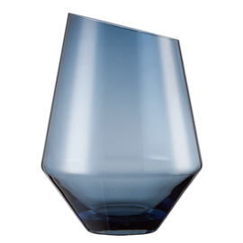 Vase | Windlicht Gr. 277 DIAMONDS Glas blau  Ø 208 mm  H 277 mm Produktbild