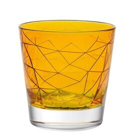 Whiskybecher DOLOMITI Amber 29 cl orange mit Relief Produktbild