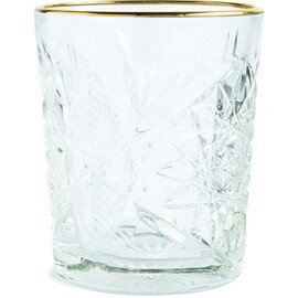 Double Old Fashioned HOBSTAR 35,5 cl mit Relief goldfarbener Rand Produktbild